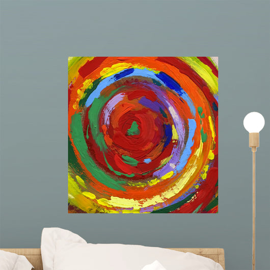 acrylic painting abstract background Wall Mural