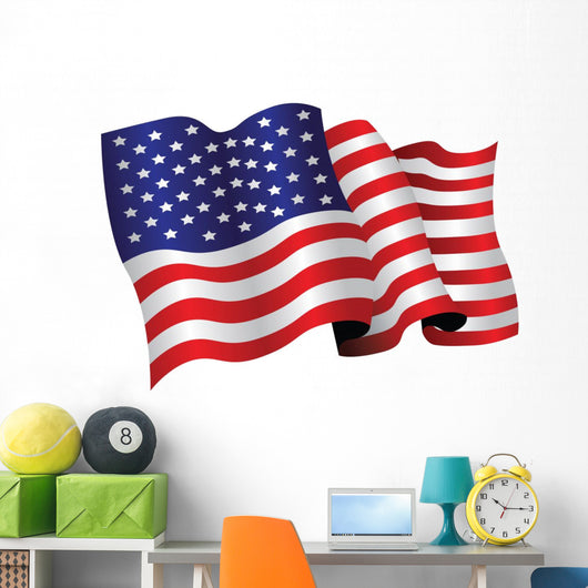 American Flag Wall Decal