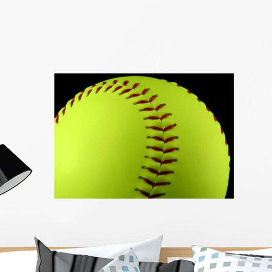 Yellow Softball Wall Mural