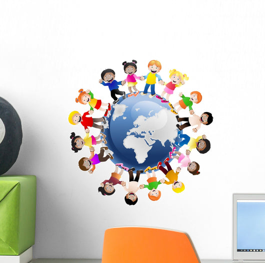 Kids Around the World Wall Mural