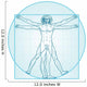 The Vitruvian Man Aqua-Air Version Wall Decal