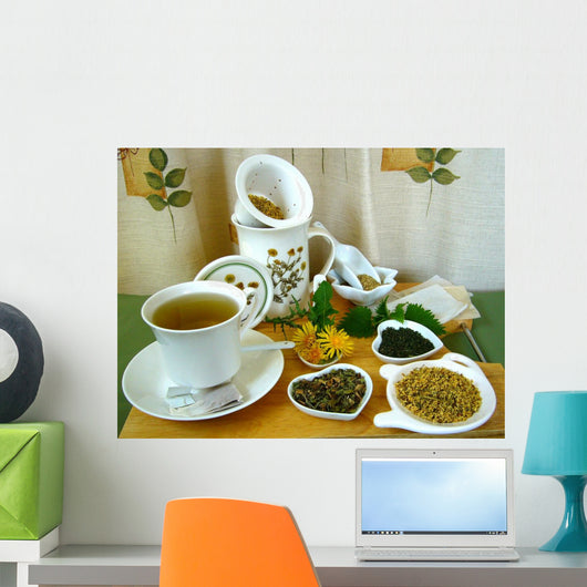 Herbal Tea Time Wall Mural