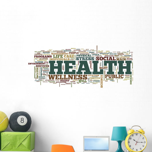 "Word Cloud ""Health"" Wall Decal"