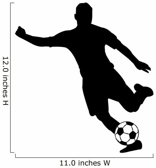 Soccer Silhouettes Wall Decal