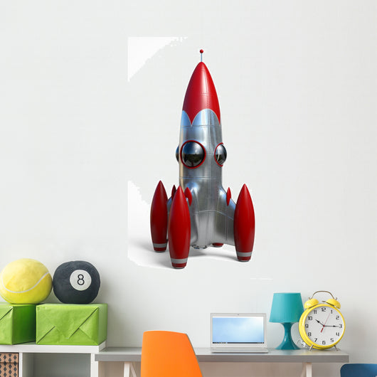 Space Rocket Wall Decal