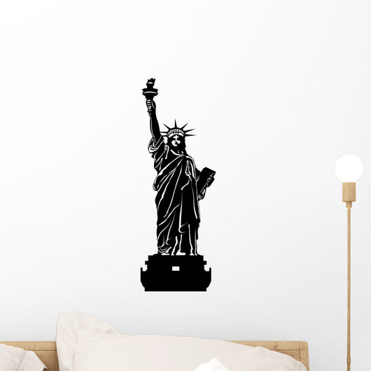 Statue of Liberty Black and White Illustration Wall Decal