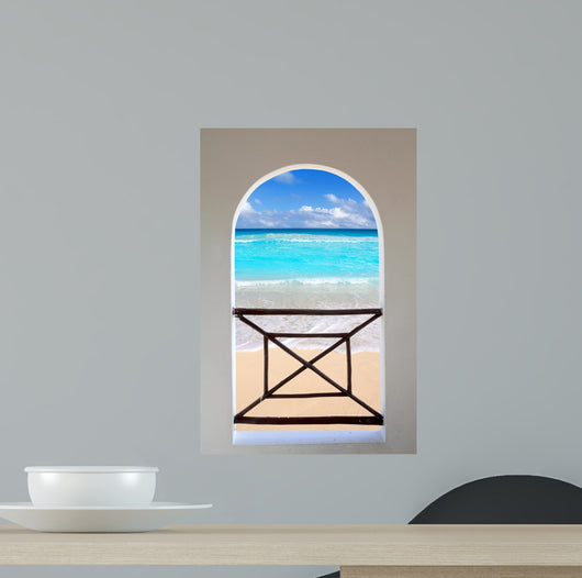 Arch Window Tropical Caribbean