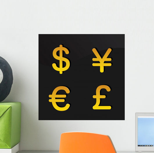 Currency Signs Wall Mural