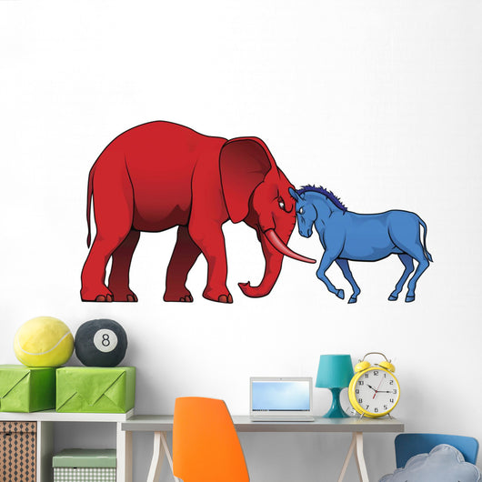 American political parties stand-off Wall Decal