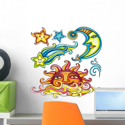 Sticker Set Celestial Bodies Wall Decal Sticker Set