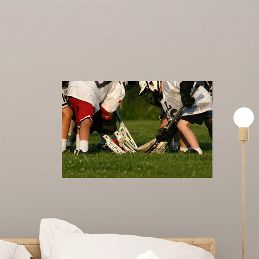 Lacrosse Game Wall Decal