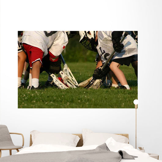Lacrosse Game Wall Mural