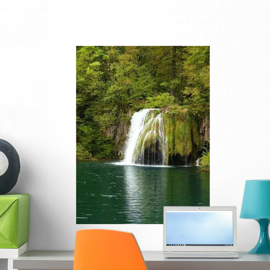 Beautiful Forest Waterfall Wall Decal Design 1