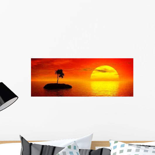 Tropic Sunset Wall Decal Design 1
