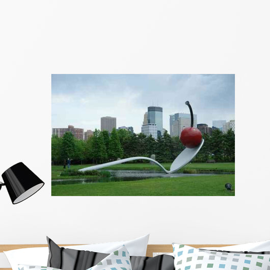 Minneapolis Skyline from Sculpture Wall Decal