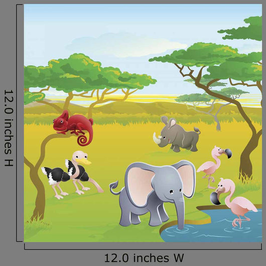 Cute African Safari Animal Wall Decal Design 1
