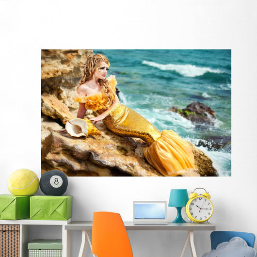 Young Beautiful Girl Image Wall Decal Design 1