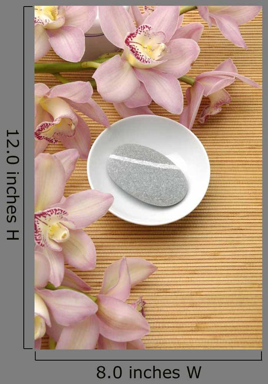 Bowl Zen Stone with Wall Decal