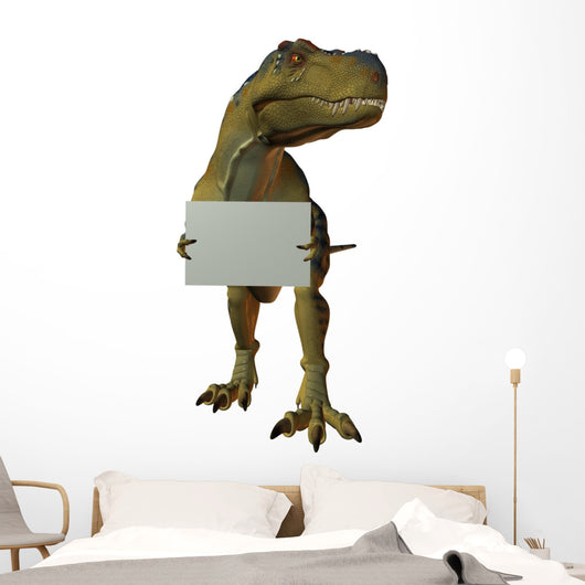T Rex with Sign Wall Decal