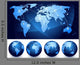 World Map and Globes Wall Stickers Wall Decal