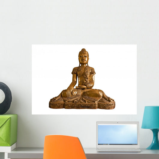 Buddha White with Clipping Wall Decal