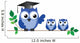 Owl Teacher and Pupils Wall Decal