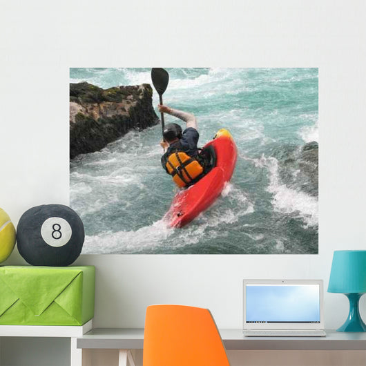 Kayaking Wall Decal