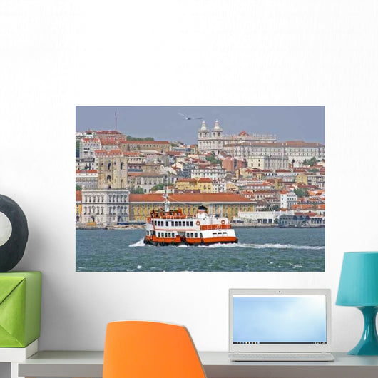 Ferry River Tagus Portugal Wall Decal