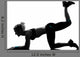 Woman Workout Fitness Posture Wall Decal Design 4