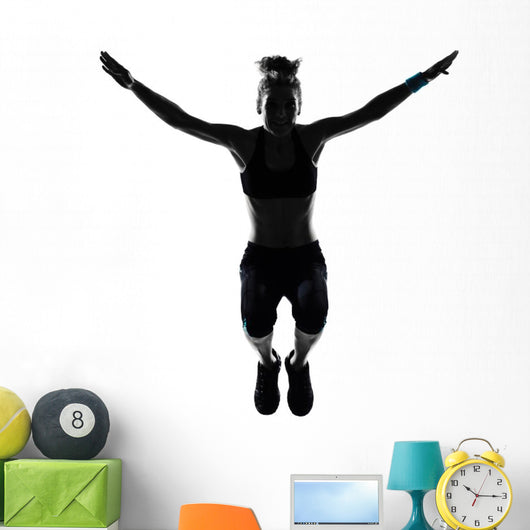 Woman Workout Fitness Posture Wall Decal Design 2