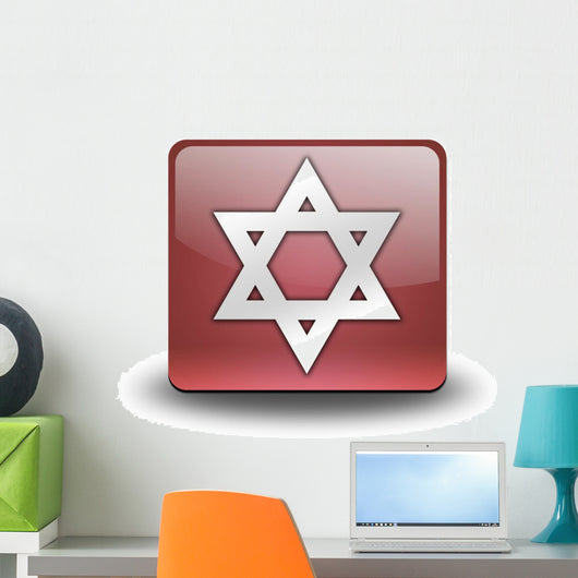 Red 3D Effect Icon Wall Decal