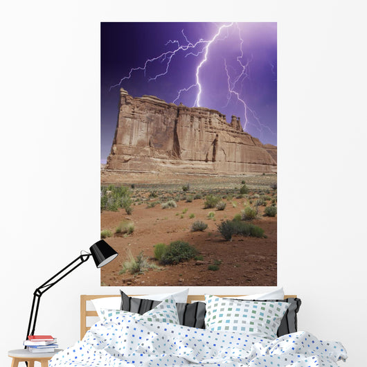 Storm over Monument Valley Wall Decal