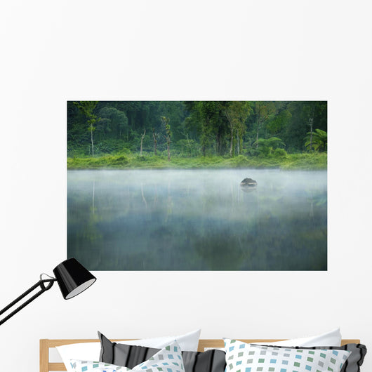 Misty Morning Landscape Wall Decal