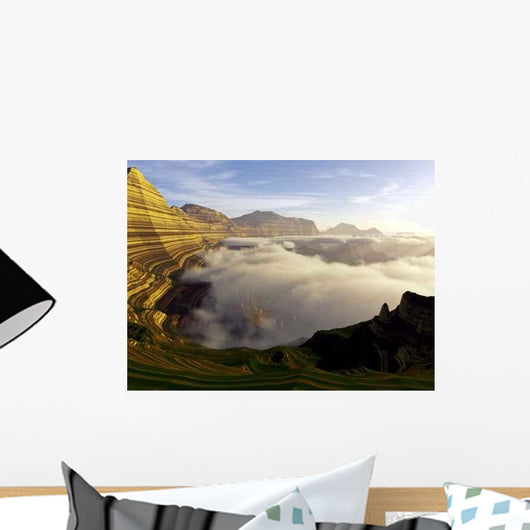 Mighty Stratified Landscape Wall Decal