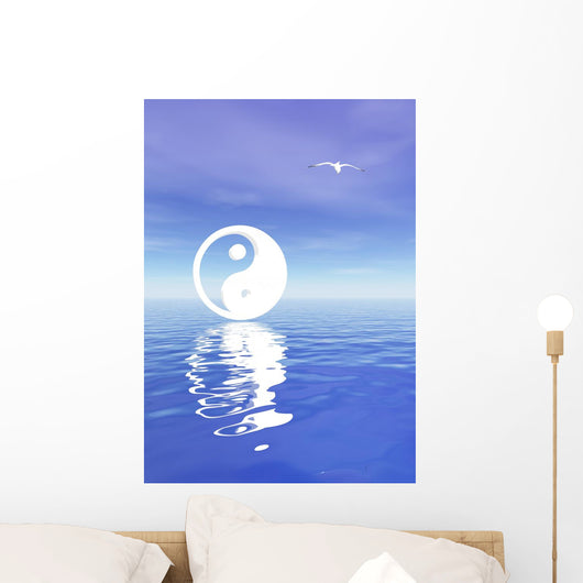 Yin and Yang Blue Wall Decal