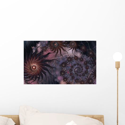 Fantastic Dark Purple and Wall Decal