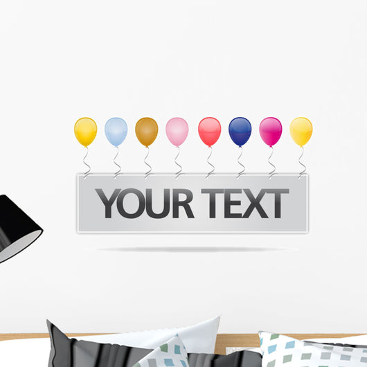 Your Text Party Card Wall Decal