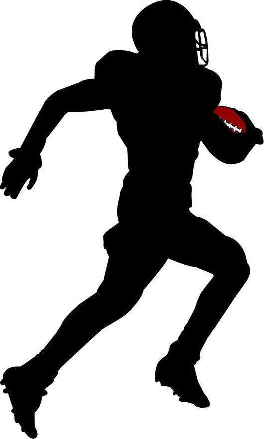 American Football Silhouette Wall Decal Design 1