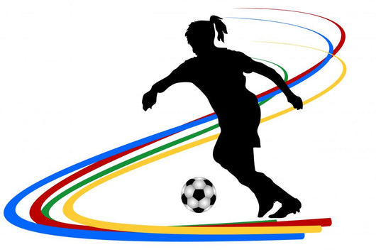 Silhouette Frauenfussball Wall Decal