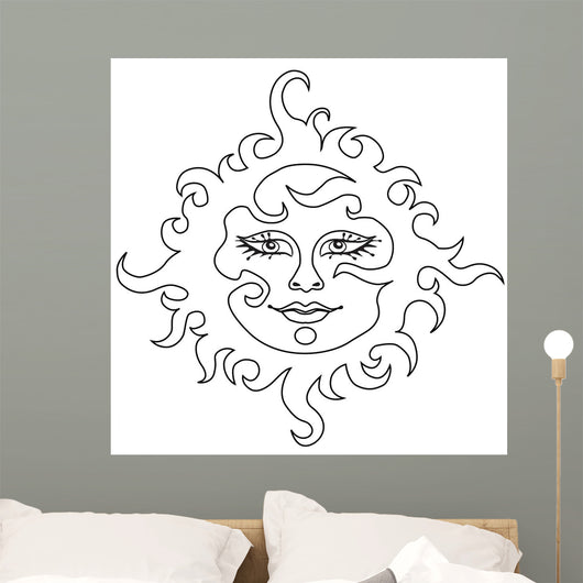 Sun Vector Wall Decal
