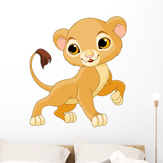 Brave Lion Cub Wall Decal