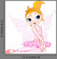 Cute Fairy Ballerina Sitting Wall Decal