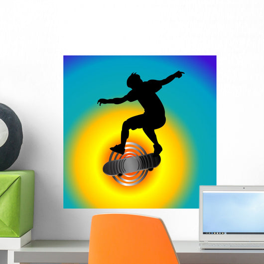 Urban Skater Jump Wall Decal