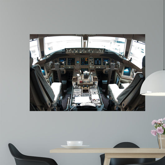 Airplane Cockpit Wall Decal
