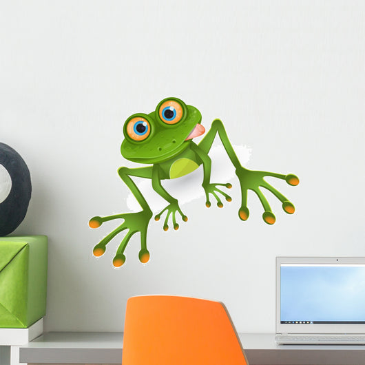 Green Cartoon Frog Wall Decal