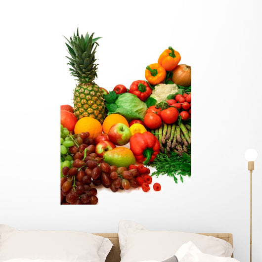 Vibrant Vegetables and Fruits Wall Decal