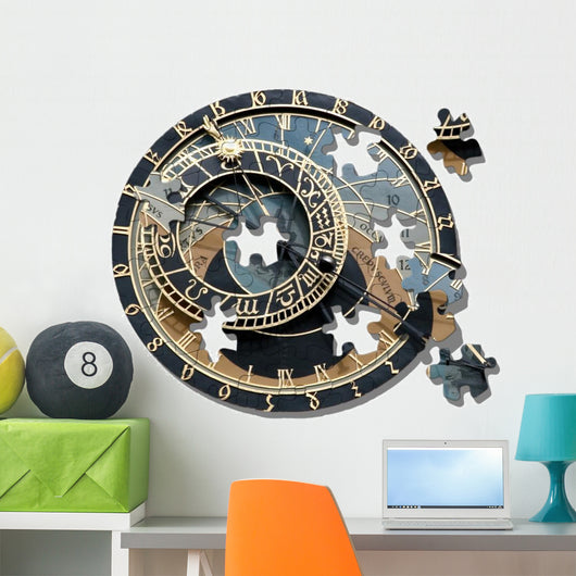 Puzzle Of Astronomical Clock Prague Wall Decal