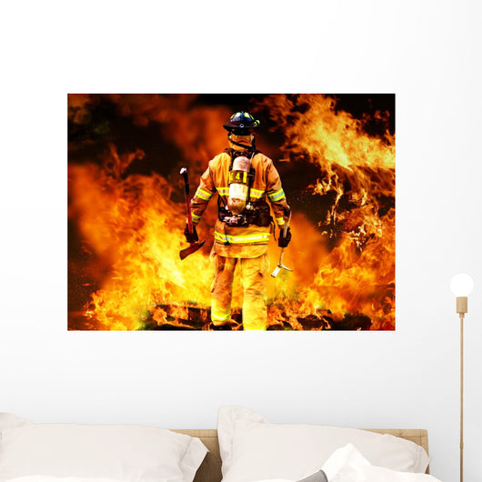 Firefighter Searches for Possible Wall Decal