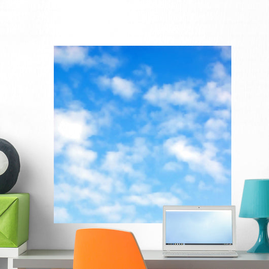 Fluffy clouds Wall Mural