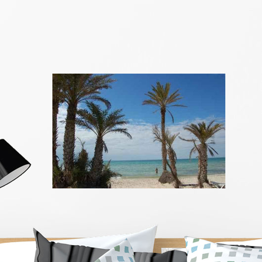 Plage Palmiers Wall Decal